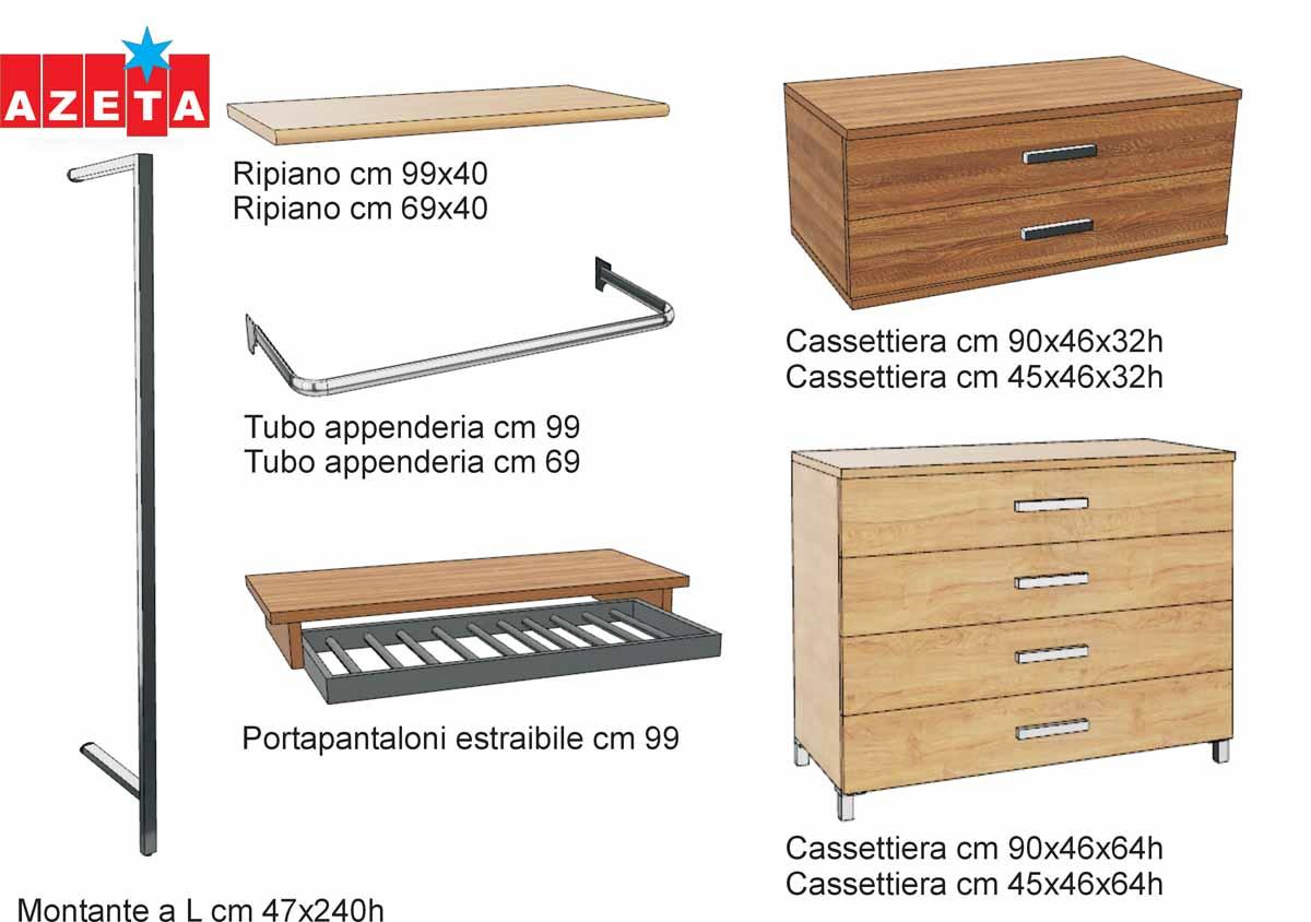 Componenti cabina armadio modello Firenze