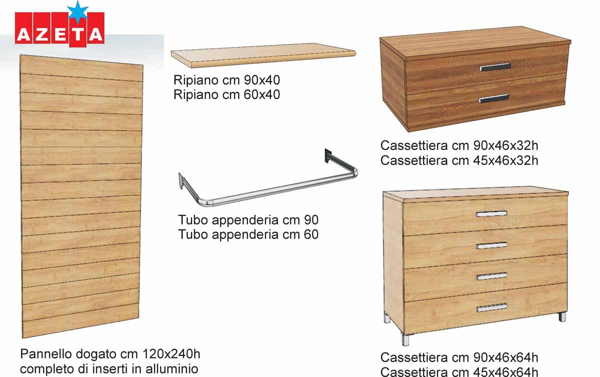 Componenti cabina armadio modello Milano