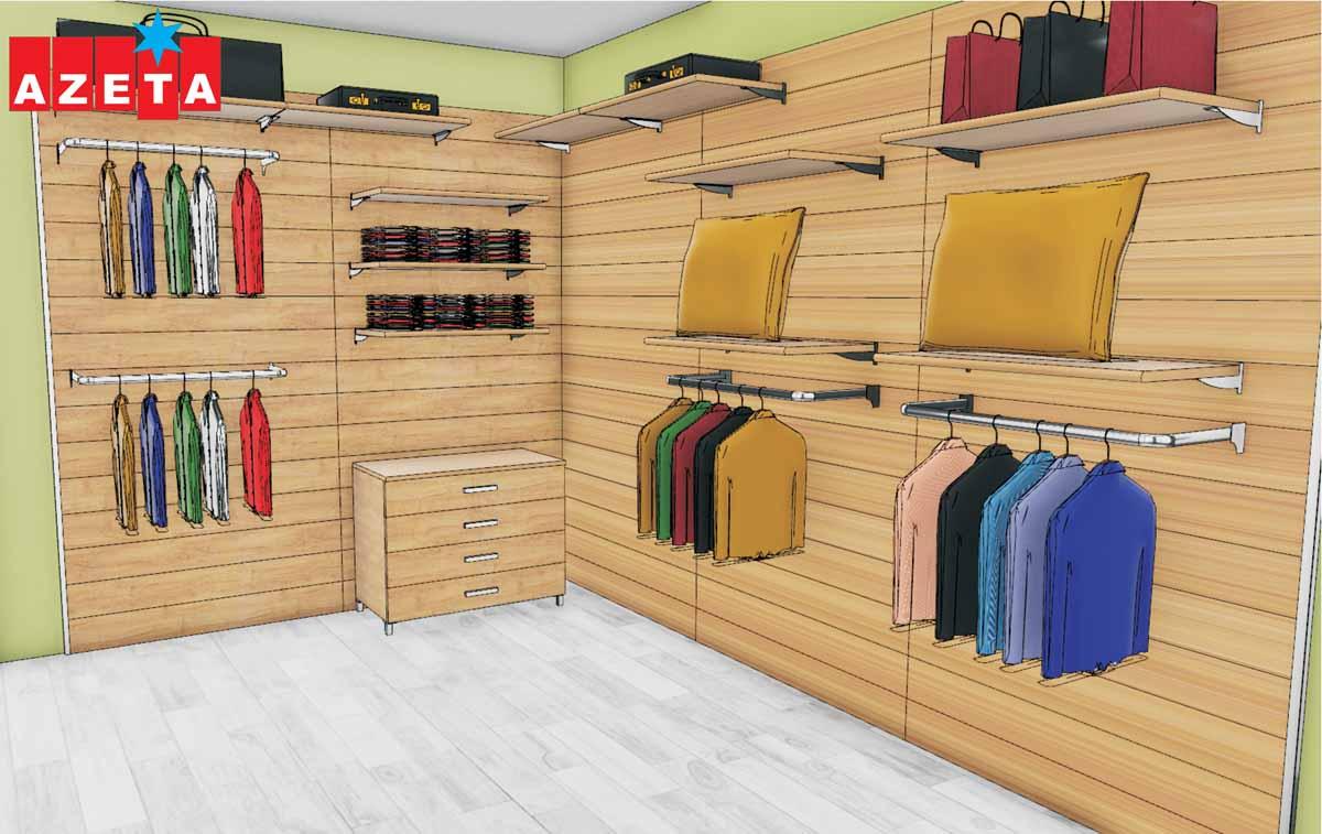 Progetto grafico cabina armadio modello Milano