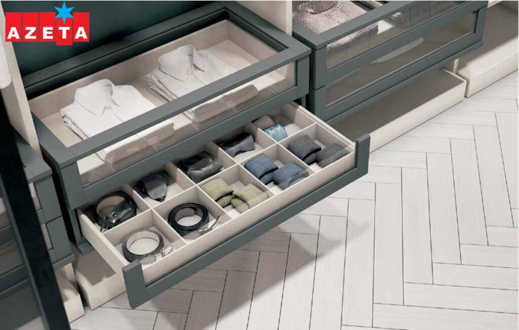 Cassettiera cabina armadio modello Parigi